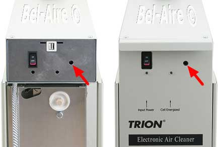Tron HE Series air flow sensor location