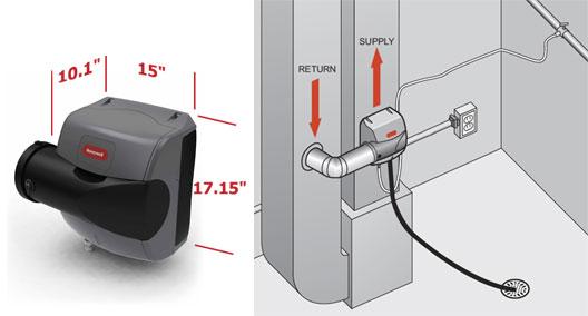 Honeywell He200a1000 Trueease Basic Bypass Humidifier