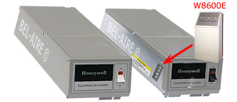 Honeywell powerbox showing terminal strip for w8600E