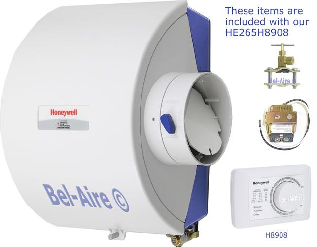 he265h8908 bypass flowthru humidifier