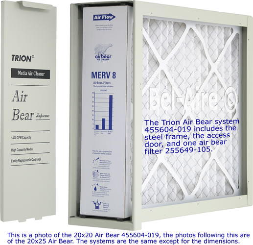 455604 019 Trion Air Bear Media Air Cleaner 20x20 455602 225