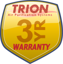Trion three years parts warranty